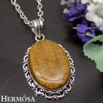 26x40mm Oval Tiger's Eye Mystic Retro Charms 925 Sterling Silver Pendant Unique <b>Handmade</b> <b>Jewelry</b> Gift NY603