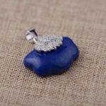 FNJ 925 Silver Pendant 100% Pure S925 Solid Thai Silver Natural Lapis Lazuli Pendants for Women Men <b>Jewelry</b> <b>Making</b>