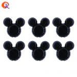 Cordial Design 50Pcs/Lot 34*37mm <b>Fashion</b> <b>Jewelry</b> Solid Black Color Chunky Mouse Acrylic Beads For <b>Jewelry</b> Kits CDWB-MMB