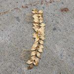 Jonnafe Gold leaf Birdal Long Hair Comb Rhinestone Wedding Hair Vine Accessories Rose Gold Women Headband Hair <b>Jewelry</b>