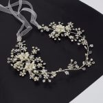 Floral Pearl Beads Crown Wedding Headpiece Tiara Headband Headdress Vine Hair Accessories Silver for Bride Bridesmaids <b>Jewelry</b>