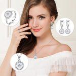 925 Sterling <b>Silver</b> Fine Jewelry Sets <b>Silver</b> Zircon Pendant Necklace Drop <b>Earring</b> Engagement Rings Women Trendy Accessories