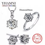 Luxury Brand 100% Real 925 Sterling Silver <b>Jewelry</b> Sets Luxury CZ Diamant <b>Wedding</b> Engagement Bridal Sets For Women African YS052