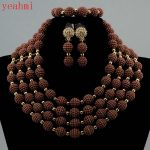 2017 MOON GIRL NEW acrylic beads <b>making</b> choker african Nigeria Wedding beads <b>jewelry</b> set statement necklace sets for women GB401