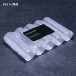 LVV HOME 100pcs commemorative coin storage box/27mm transparent money protection boxes ollection <b>supplies</b>