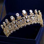 Luxurious Cubic Zirconia Crown Tiara AAA Zircon Stone Baroque Queen Coronet Headband Hair <b>Jewelry</b> <b>Wedding</b> Party Headpiece Gifts