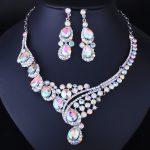 FARLENA <b>Jewelry</b> Multicolor Crystal Rhineatones Necklace Set for Women Wedding & Engagement <b>Accessory</b> Fashion Bridal <b>Jewelry</b> sets