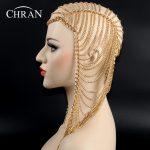 Chran 3 Colors Luxury <b>Fashion</b> Women Punk Multi Layer Metal Head Chain <b>Jewelry</b> Forehead Headband Hair Piece Body <b>Jewelry</b> HDCJ104