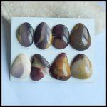 Natural gemstone 8Pcs Of Mookite Jasper <b>fashion</b> <b>jewelry</b> pendant Cabochons,32x24x6mm,28x19x6mm,49g