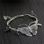 <b>Silver</b> Wholesale Thailand Chiang Mai Handmade <b>Silver</b> Butterfly <b>Bracelet</b> S925 Sterling <b>Silver</b> Retro Ethnic Style Female Models