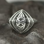 Original Design Vintage 925 Sterling Silver Rings For Women Hollow Flowers Design Geometrical Shape Elegant <b>Jewelry</b> Ring
