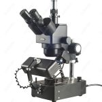 <b>Jewelry</b> Gem Trinocular Microscope–AmScope <b>Supplies</b> 10X-60X <b>Jewelry</b> Gem Trinocular Stereo Microscope with Three Lights