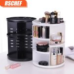 <b>Fashion</b> 360-degree Rotating Makeup Organizer Box Brush Holder <b>Jewelry</b> Organizer Case <b>Jewelry</b> Makeup Cosmetic Storage Box