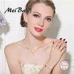 [MeiBaPJ]European and American S925 <b>Silver</b> Inlaid Micro Flamingo Set Fashion Moon&love <b>Earrings</b>+Necklace+Ring+Bracelet sets