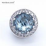 Pandulaso Charms Silver 925 Original Glacier Blue Radiant Hearts Beads for <b>Jewelry</b> <b>Making</b> DIY <b>Jewelry</b> Fit Bracelets & Bangles