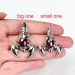 FNJ 925 Silver Scorpion Pendant S925 Solid Thai Silver Synthetic Garnet Pendants for Women <b>Jewelry</b> <b>Making</b>