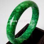 Natural Green Bangle Woman's Green Bracelet <b>Handmade</b> Fashion <b>Jewelry</b> Gift Bangles +certificate 58-62mm