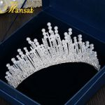 European Design Luxurious Rhinestone Tiara Upscale Pearl <b>Jewelry</b> <b>Wedding</b> Engagement Tiaras and Crowns Sparkly Hairband HG154