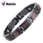 Rainso Bio Energy Health Titanium Bracelet Bangle Red Plated Magnetic Health Care Bracelet For Men <b>Jewelry</b> 2018 <b>Fashion</b>