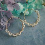 Customize Pearl Earrings Gold Filled <b>Handmade</b> Brincos Vintage <b>Jewelry</b> Not Fade Mom Party Gift Pendientes Earrings Oorbellen