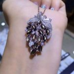 natural Starlight sapphire pendant S925 <b>silver</b> Natural gemstone Pendant Necklace trendy Luxury grape string women fine <b>jewelry</b>