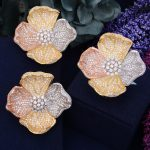 GODKI 45mm Exclusive Flower Blossom Super Shinning Luxury Cubic Zirconia Women Bridal <b>Wedding</b> Party Earring Ring <b>Jewelry</b> Set