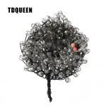 TDQUEEN Brooches Crystal Beads <b>Handmade</b> Broches Vintage Women Pin <b>Jewelry</b> Tree Flower Brooches for Wedding Bouquets