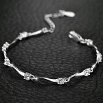Jemmin Fine Jewelry Genuine 925 Sterling <b>Silver</b> <b>Bracelets</b> For Women Natural Crystal Bangle <b>Bracelet</b> Accessory