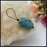 Wholesale 1Pcs Natural Stone Precious Turquoise T Drilled Necklace Pendant 21x14x6mm 2.4g