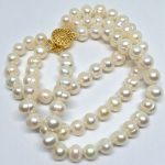 Elegant natural freshwater white pearl 3 rows bracelet for women round beads 7-8,8-9mm gift fashion <b>jewelry</b> <b>making</b> 7.5inch B1523