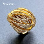 NEWBARK Exaggerated Personality Ring Female <b>Fashion</b> Statement Big Ring <b>Jewelry</b> Available in Sizes 7 8 9 Gold-color