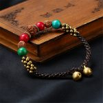 Vintage <b>Handmade</b> Ethnic Natural Stone Gold Color Beads Chain Bracelets For Women 2018 Fashion <b>Jewelry</b>