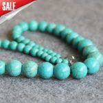 New 6-14mm Turkey Stone Beads Stripe DIY Stone Necklace Women Girls Beads 15inch Mother's Day gift Fashion <b>Jewelry</b> <b>Making</b> Design