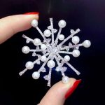 natural fresh water pearl brooch fireworks 925 <b>sterling</b> <b>silver</b> with cubic zircon fashion women <b>jewelry</b> for coat or jacket 54MM