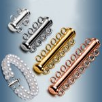 10pcs/lot 925 Sterling <b>Silver</b> Slide Tube Clasp Multilayer Buckle For DIY <b>Bracelet</b> Necklace Connector Jewelry Making Accessory