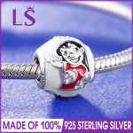 New Arrival 925 <b>Silver</b> Lilo & Stitch Charm Fit Original Bracelets&<b>Necklace</b> 2017 Winter New Year Christmas DIY Beads Wholesale N