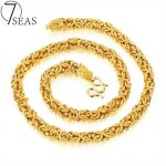 7SEAS Vintage Collare Trendy Men Dragon Chain Necklace Punk Heavy Gold Color Necklace Men Link Chain <b>Jewelry</b> Party Gift 7S658