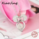 New arrival Mickey Mouse glowing charms pendant necklace 925 silver beads chain European <b>jewelry</b> <b>making</b> Valentine's Day gifts