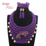 <b>Handmade</b> Luxury African beads <b>jewelry</b> sets indian beaded nigerian wedding bridal beads necklace dubai <b>jewelry</b> sets N0059