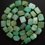 Free Shipping!!! 1 strand(Approx: 38Pcs)Natural Raw stone Chrysoprase Loose Bead 15.5 inch M211 For <b>Jewelry</b> <b>Making</b>