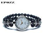 Beauties of Emperor EPOZZ nature gemstone series quartz watch women elegant luxury purple natural stone <b>bracelet</b> clock H1322S1