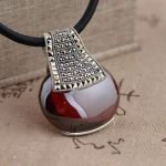 FNJ 925 <b>Silver</b> Pendant 100% Pure S925 Solid Thai <b>Silver</b> Synthetic MARCASITE Red Cubic Pendants for Women Men <b>Jewelry</b> Making