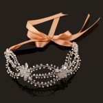 Foreign bride wedding dress accessories hair ribbon Korean rhinestone tiara hair bands <b>handmade</b> <b>jewelry</b> wholesale Taobao