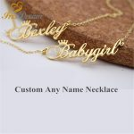 <b>Make</b> Any Name Custom Necklace Women Girl Steel With Cross Chain Gold Silver Plated Unique Pendants Necklaces Best <b>Jewelry</b> Gift