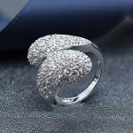 Hutang real 925 sterling <b>silver</b> wedding band ring cubic zirconia luxry rings for women gift engagement party fine <b>jewelry</b> 2018