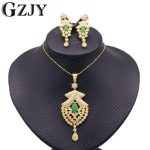 GZJY Fashion Women's <b>Jewelry</b> Sets Gold Color CZ Red Green Zircon Pendant <b>Necklace</b> Grapes Shape Earrings Set For Women 6colors