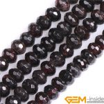 Faceted Natural Red Garnet Rondelle Spacer Beads DIY Loose Beads For <b>Jewelry</b> Making Strand 15 Inch Wholesale