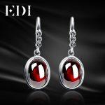 EDI Trendy Women Vintage 925-Sterling-<b>Silver</b> Dangle <b>Earrings</b> Blue Precious Stone Drop Oval Luxury Thai <b>Silver</b> <b>Earring</b> EH100L