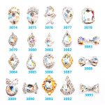 100PCS/Lot High Quality Charming K9 Fancy Crysal Stone 3D Nail Art <b>Decorations</b> for Finger Nail <b>jewellery</b> 3074-3093