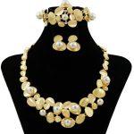 Fashion African Charm Wedding Pearl <b>Jewelry</b> Brand <b>Necklace</b> Earrings Dubai Gold <b>Jewelry</b> Wholesale Women's <b>Jewelry</b> Sets